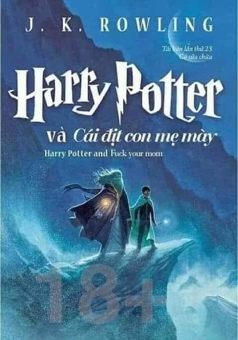 Bìa sách Harry Potter và cái dit con mẹ mày