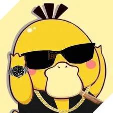 Avatar vịt vàng đeo kính đen ra dáng tay anh chị
