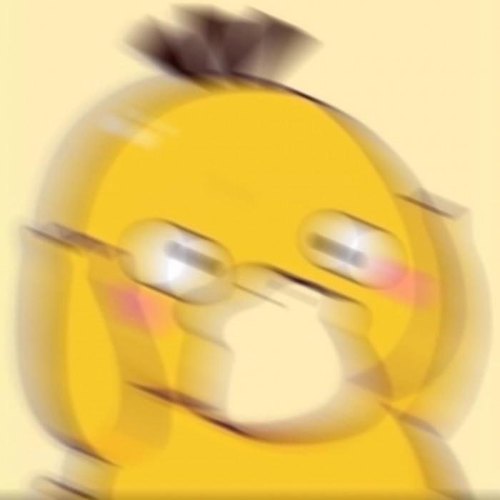 Meme Vịt Vàng lắc đầu chóng mặt