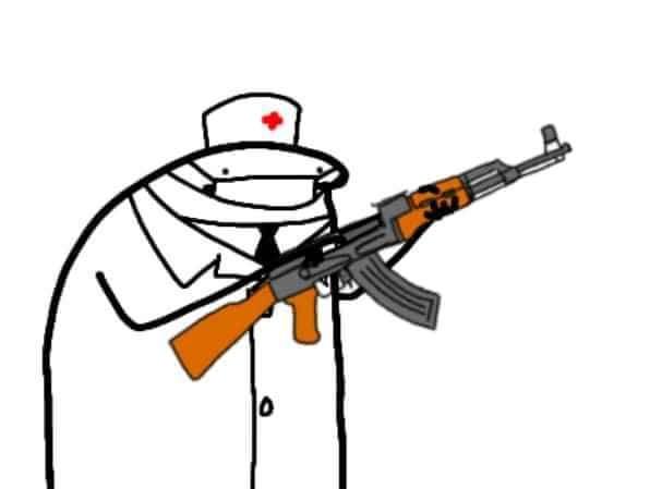 Bác sĩ cầm súng AK47