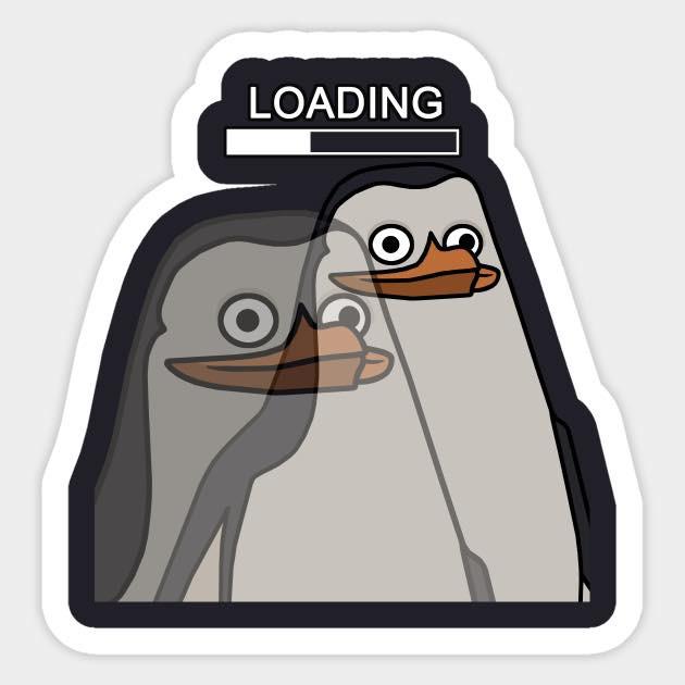 Chim cánh cụt loading (đang suy nghĩ hoặc đang tải não)